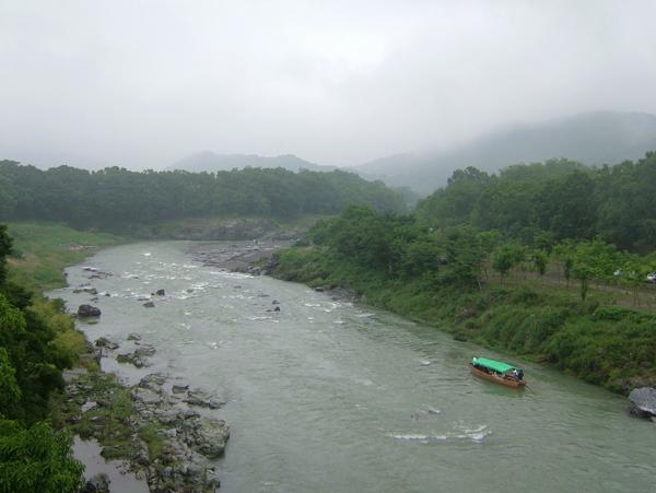 写真:長瀞の川下り